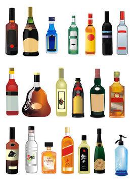 Alchohol bottles
