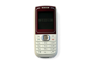 Mobile phone isolated over white with clipping path.