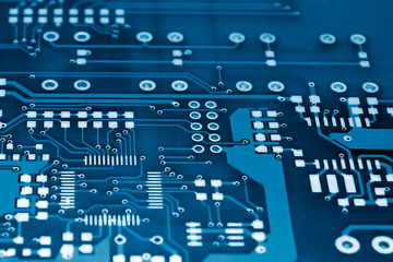 Printed Circuit Board in Electric blue
