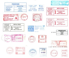 postmarks from the world ( background )