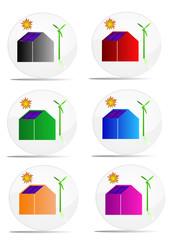 Logos de maisons écologiques
