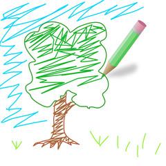 gekritzelter Baum