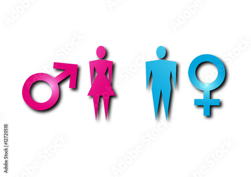 Simbolos Y Hombre Mujer Stock Image And Royalty Free Vector Files