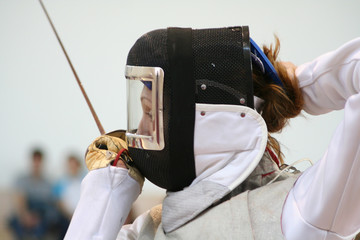 Fencing mask and foil