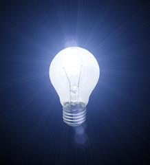 Lighted bulb