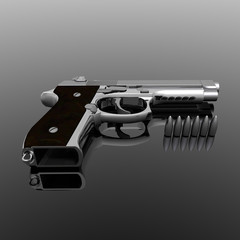 Closeup of pistol