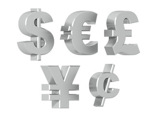 Currency symbols in Silver