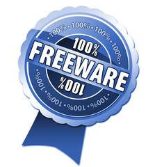 100% Freeware Button