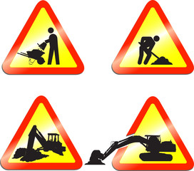Construction vector signs