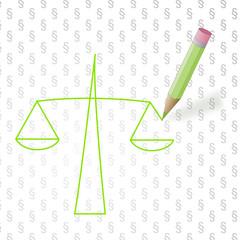 Waage der Gerechtigkeit / balance of justice