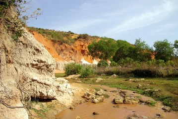 The Ham Tien canyon in Vietnam