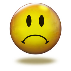 Emoticon 3D. Triste