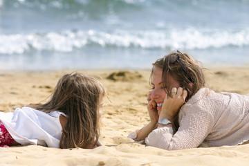 tête à tête sur la plage