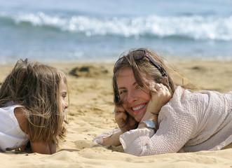 joie sur la plage