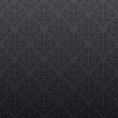 Gray floral seamless wallpaper background pattern design