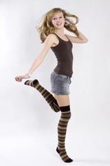 tanzender teenager
