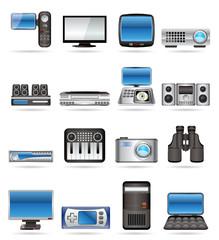 Hi-tech equipment - vector icon set 2