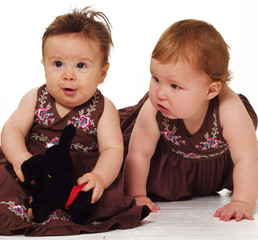 Adorable little girls playing