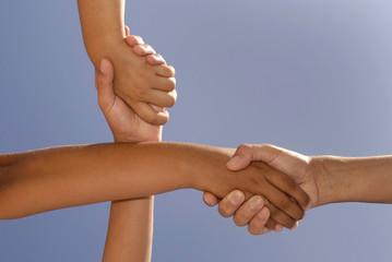 Crossed handshake