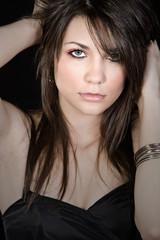 Close Up Portrait of a Beautiful Brunette Girl