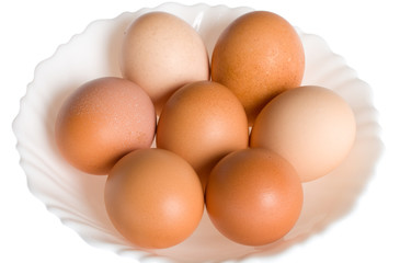 seven eggs on plate