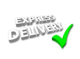 """Express Delivery"" (3D with tick)"