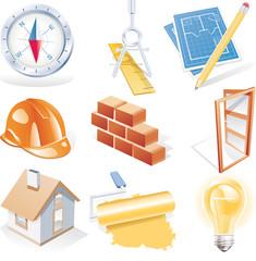 Architecture detailed icon set