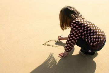 écrire sur la plage