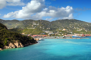 View of the Island of Saint Thomas, USVI