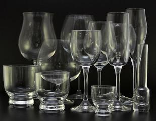 bicchieri di varie forme