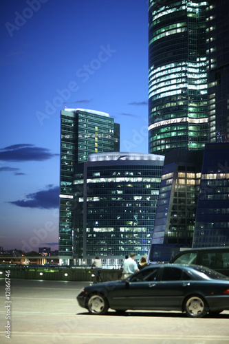 Fotobehang Modern urban business architecture