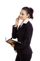 Businesswoman talkin on mobile phone