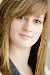 Closeup of teen girl