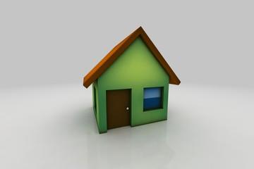 little green house - 3d render illustration