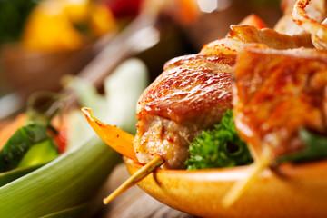 Deurstickers Vlees Roasted meat