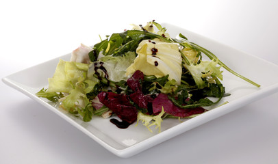 Blattsalate mit Balsamico