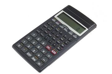 calculator over white