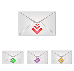Email icons with arrows