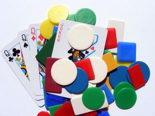 Carte da gioco e fiches