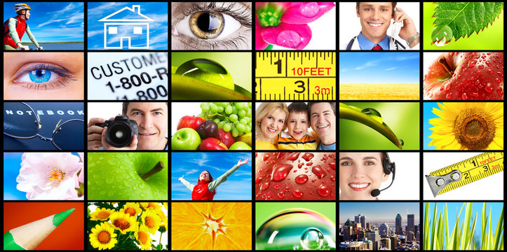 Set of stock images