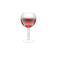 wine glass isolated on a white