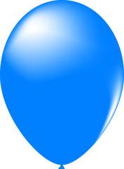 Blau Luftballoon