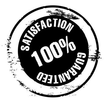 tampon qualité - satisfaction 100 % guaranteed - vecteur