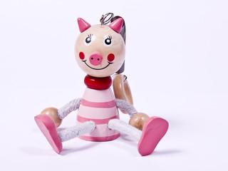 Holzfigur, Schweinchen