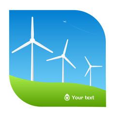 vector windmill illustration