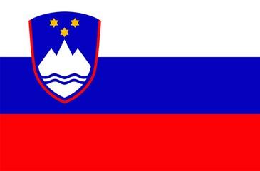 Slovenia national flag. Illustration on white background