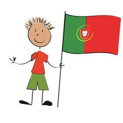 enfant drapeau portugal