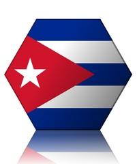 cuba drapeau hexagone cuba flag