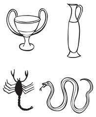 Greek signs and symbols - tattoo