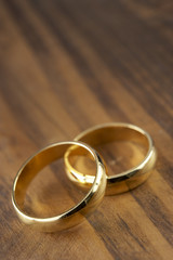 Two Wedding Rings Resting Together